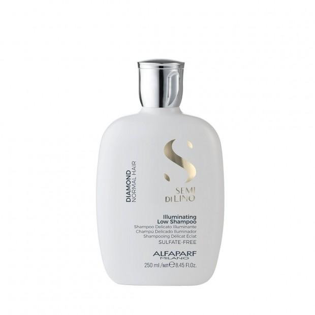 Шампоан с ленено семе за диамантен блясък Alfaparf Illuminating Low Shampoo 250 мл