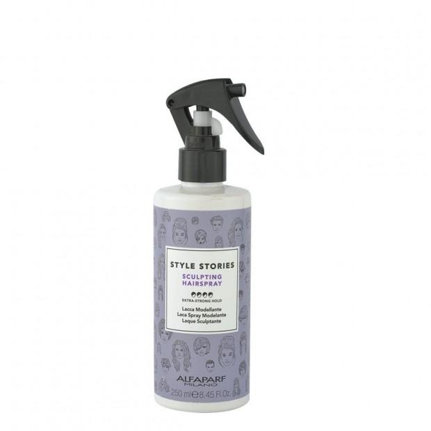 Течен лак за коса с много силна фиксация Alfaparf Style Stories Sculpting Hairspray 250 мл