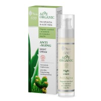Подмладяващ и успокояващ нощен крем с алое AVA Aloe Organic 50 мл