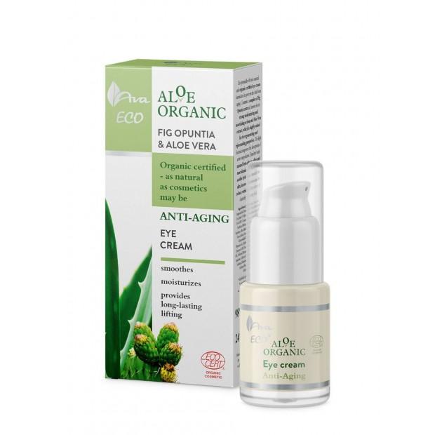 Възстановяващ анти-ейдж околоочен крем AVA Aloe Organic 15 мл