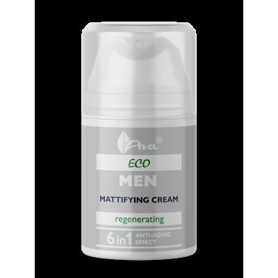 Хидратиращ матиращ крем за лице за мъже с 6 действия AVA Eco Men 50 мл