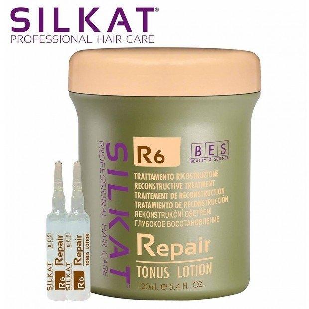Ампули за възстановяване на косата BES R6 Tonus Lotion 12бр.x10 мл