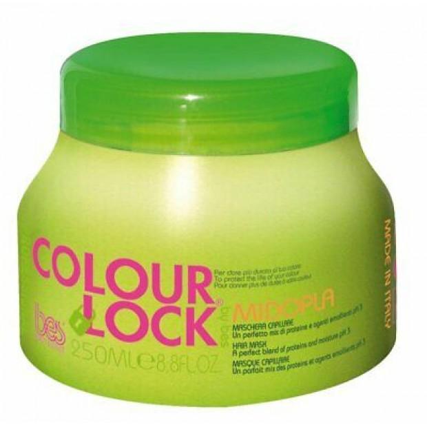 Реконструираща маска с протеини за боядисана коса BES Colour Lock Midopla 250 мл