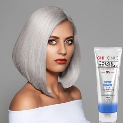 Тониращ балсам за руса коса CHI Color Illuminate Silver Blonde 251 мл