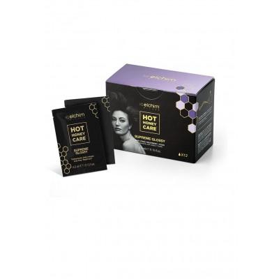 Кутия анти-фриз терапия за сешоар ELCHIM Hot Honey Care Supreme Glossy - Anti-Frizz Formula 12 бр.