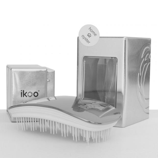 Четка за разресване и масаж на скалпа ikoo Metallic