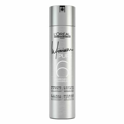 Хипоалергенен лак за коса с нормална фиксация LOreal Pure Strong 500мл