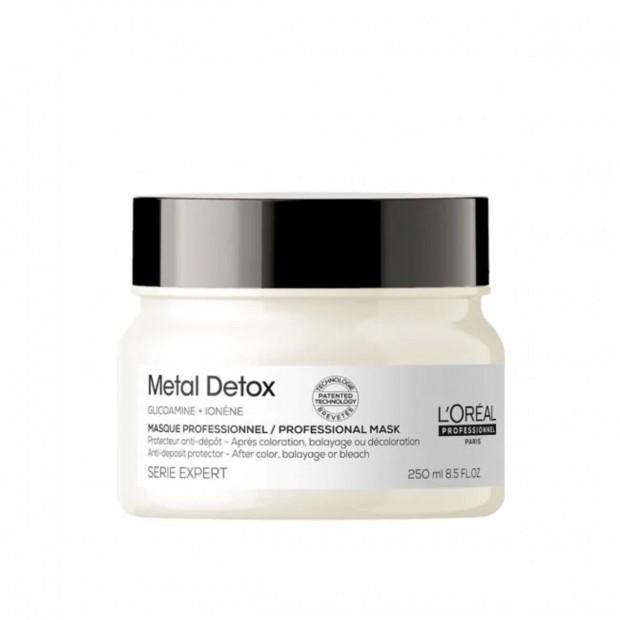 Маска за защита на косата от натрупване на метали Loreal Professionnel Metal Detox Mask 250 мл