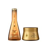 Комплект за подхранване и блясък за тънката коса LOreal Mythic Oil