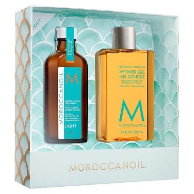 Комплект мароканско арганово масло за тънка коса с подарък душ гел Moroccanoil Escape Light