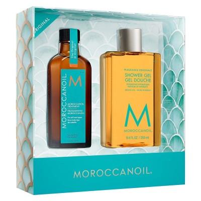 Комплект мароканско арганово масло за всеки тип коса с подарък душ гел Moroccanoil Everyday Escape