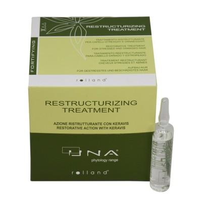 Възстановяващи ампули против косопад UNA Restructurizing Treatment 12х10 мл